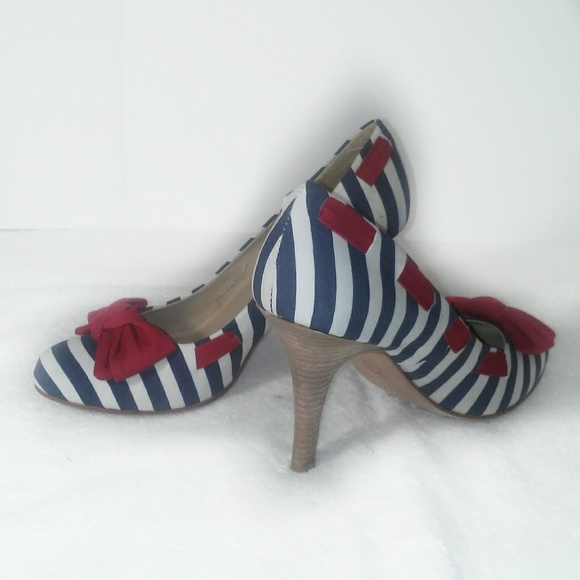 Mia Shoes | Venice Heels Red White Blue